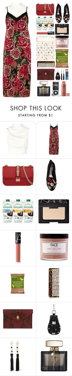 """5.000"" by katrina-yeow ❤ liked on Polyvore featuring Keepsake the Label, River Island, Valentino, Alexander McQueen, NARS Cosmetics, FACE Stockholm, Buly, Alexander Wang, Kenneth Jay Lane and Chapstick"