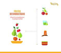 Prepara un snack con frutas deshidratadas.