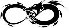 Chinese dragon tattoo infinity husband