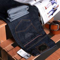 Find More Jeans Information about jeans masculinos new arrival zipper voar meados  aumento 2014 homens wholesale negócio marca cintura reta algodão aj nome contadores,High Quality jeans japan,China jean pans Suppliers, Cheap jeans 46 from Fashion boutique heaven on Aliexpress.com