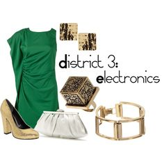 District 3: Electronics, created by checkers007.polyvore.com  Outfit for The Hunger Games, District 3: Electronics.