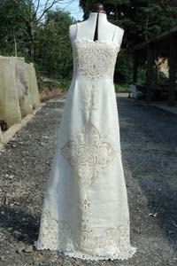 Exquisite Vintage Linen and Lace Wedding Dress by sowsearstudio1, £280.00