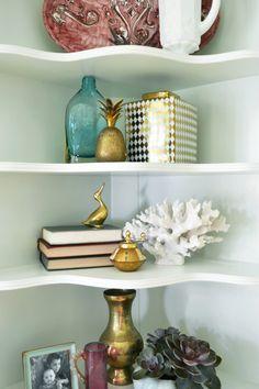 Fun shelving: http://www.stylemepretty.com/living/2015/08/03/a-dining-room-makeover/   Design: Rehabitat - http://rehabitat-interiors.com/