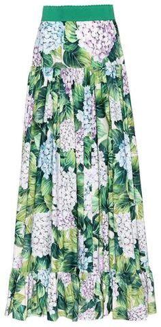 Hydrangea Print Maxi Skirt