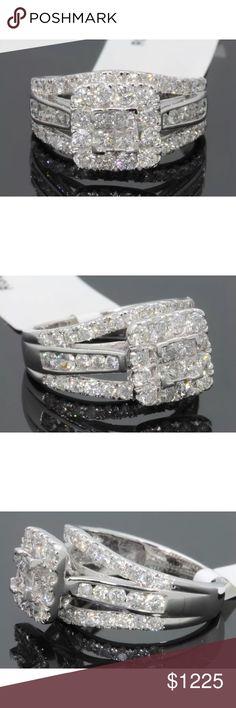 Gorgeous 2.25 carat 10k white gold diamond ring Gorgeous 2.25 carat 10k white gold diamond ring Jewelry Rings