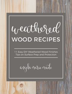 Easy tutorial on how to create a weathered wood gray finish. Make new wood look like old weathered wood or refinish your furniture with this wood finish. Outdoor Couch, Diy Outdoor Furniture, Pantry Labels, Diy Wood Signs, Board And Batten, Diy Holz, Weathered Wood, Wood Projects, Woodworking Projects