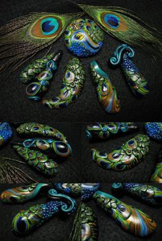 First batch of Peacock Focal Pendants finally DONE!