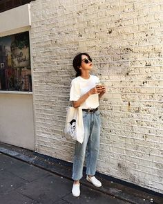 what to wear with baggy jeans 50+ best outfits #outfit #casual #jeans