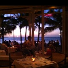 Latitudes, Key West Fla. dining on the beach.