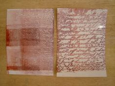 The Technique Zone: Waxed Paper