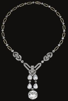 Diamond Necklace by Chaumet, cicra 1915. pinned with #Bazaart - www.bazaart.me