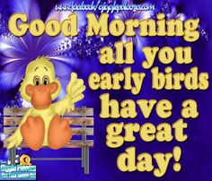 Good Morning All You Early Birds Have A Great Day