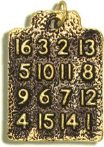 The Magic Square Amulet is a powerful talisman containing numbers that add up to the same total whether adding horizontally, vertically, or diagonally. 3d Art Painting, Physics Formulas, Learn Hindi, Beautiful Names Of Allah, Good Luck Symbols, Magic Squares, Magic Words, Prayer Book, Square Photos