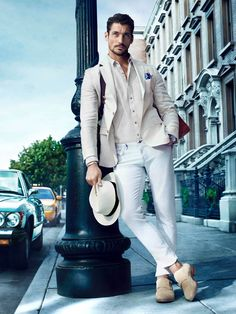 David Gandy menswear, men's fashion and style Gentleman Mode, Gentleman Style, Style Désinvolte Chic, Mode Style, Sharp Dressed Man, Well Dressed Men, Stylish Men, Men Casual, White Casual