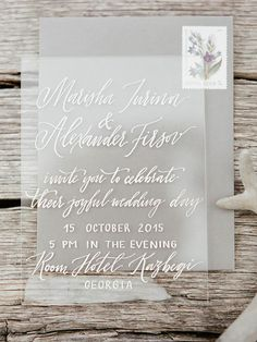 FESTIVAL BRIDES   Sheer Delight Acrylic Wedding Decor Details and Inspiration - light and modern perspex wedding stationery