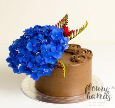 Hydrangea chocolate cake