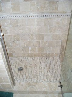 love the small floor tiles, would match our existing travertine