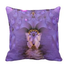 Gorgeous Abstract Butterfly Throw Pillow
