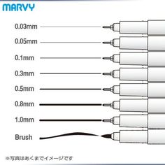 8 pcs/Lot Marvy art marker for drawing and Brush Sketch Liner pigment cartoon gel pen Anime tools Stationery school supply 6861