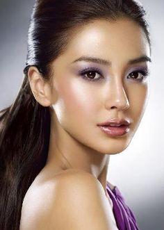 Makeup beautifully done.
