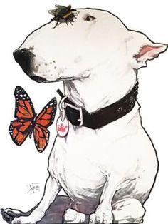 Bull Terrier Tattoo, Bull Terrier Dog, Most Beautiful Dogs, English Bull Terriers, Dog Tattoos, Dog Quotes, Dog Art, Pet Birds, Cute Animals