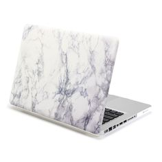 White Marble Pattern Rubberised Hard Shell Case Cover for 13 MacBook Pro