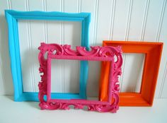 Painted Frame Collage / Home Decor / Up Cycled / by MamieZVintage2, $30.00