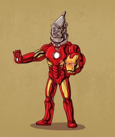Removing the Masks from Famous Comic Icons by Alex Solis - tin and iron man