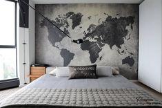 Географические карты в интерьере квартиры: оригинальное украшение стен
