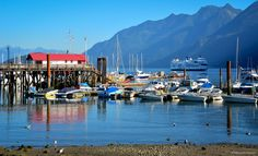 https://flic.kr/p/MDhobp | Horseshoe Bay, West Vancouver | Horseshoe Bay is a West Vancouver community of about 1,000 permanent residents. Situated on the western tip of West Vancouver at the entrance to Howe Sound, the village marks the western end of Highway 1 on the British Columbia mainland, as well as the southern end of the Sea-to-Sky Highway, with Lions Bay just 15 minutes north.  This very picturesque village is the West Coast ferry terminus for BC Ferries to Departure Bay in…