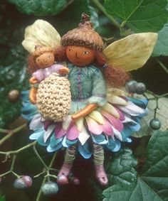 One of Salley Mavor's fairies.  She used to sell kits to make these.