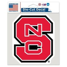American Logo Products NC State Wolfpack 6 inch x 6 inch Decal, Multicolor