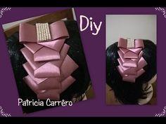 Como fazer laço de fita de cetim com duas cores DIY ,TUTORIAL ,PAP /Laço mil faces By Iris Lima - YouTube