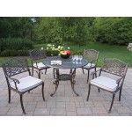 Oakland Living - Mississippi 5 Piece Fully Dining Set with Cushions - 2011-2120-9-AP  SPECIAL PRICE: $1,474.88