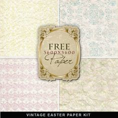 Far Far Hill - Free database of digital illustrations and papers: Freebies Vintage Easter Paper
