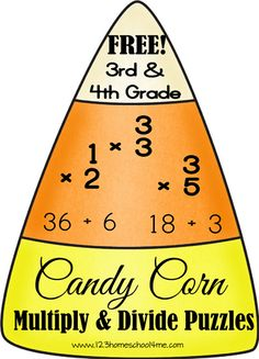 This FREE Math Game from 123 Homeschool 4 Meis geared at 3rd grade and 4th grade students who are practicing multiplying and dividing