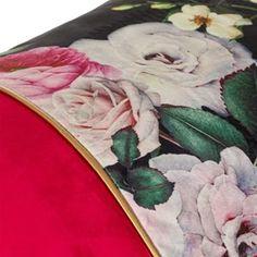 Μαξιλάρι Χειμερινής Διακόσμησης Μπορντό Floral Velvet 50x30 cm Lunch Box, Bento Box