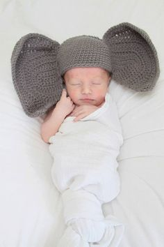 Baby Elephant Hat by ChainedWithLuv on Etsy