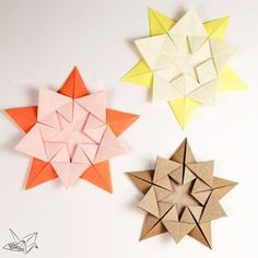 A Tutorial Teaching How To Make An Origami Star Designed By Ali Bahmani This Wonderful