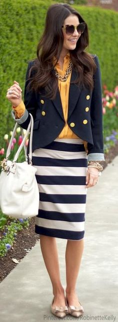 Street Style | Office Style Stripes