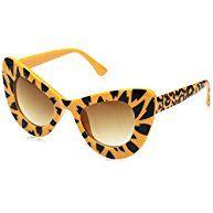 e329be5f5d FEISEDY Cat Eye Retro Cute Acetate Frame Polycarbonate Lenses Women  Sunglasses B2239