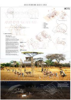 IWC África: anuncian ganadores de ideas sobre centro de visitantes en reserva natural de Sudáfrica,Mención Honrosa: código IWC1115. Image Cortesia de Arquideas