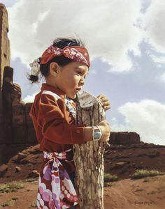 Never Alone, Navajo by George Molnar kK
