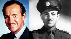 David Niven, famous English actor and novelist. A former regular soldier in the Highland Light Infantry , Niven used a rouse to escape a Hollywood contract and return to England after War began in 1939. After being turned down by the R.A.F he was commissioned into the Rifle Brigade, and later joined the Commando`s. He saw active service in Malta and North West Europe. Niven ended the war as a lieutenant-colonel. On his return to Hollywood after the war, he received the Legion of Merit.