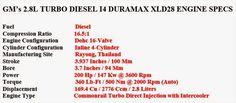 2016 chevy colorado diesel specs
