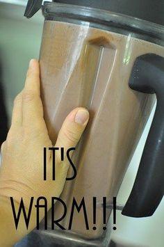 hot chocolate vitamix 3T cocoa 3T honey 3c milk