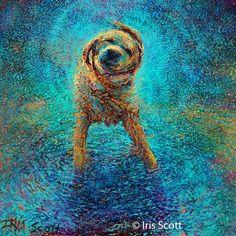 1 dog painting by Iris Scott http://webneel.com/oil-painting   Design Inspiration http://webneel.com   Follow us www.pinterest.com/webneel