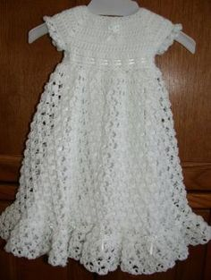 Free Crochet Christening Gown | ... crocheted baby blessing christening dress by babysewsoft on etsy by aubreevelazquez5700
