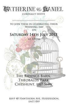 Birdcage Invitations