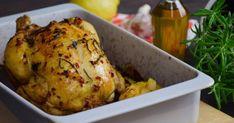 Egészben sült citromos csirke recept képpel. Hozzávalók és az elkészítés részletes leírása. A Egészben sült citromos csirke elkészítési ideje: 95 perc Okra, Menu Planning, My Recipes, Ale, Turkey, Meat, Food, Christmas, Xmas